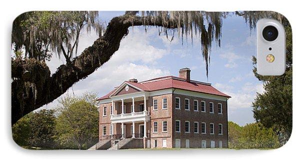 Historic Drayton Hall In Charleston South Carolina IPhone Case by Dustin K Ryan