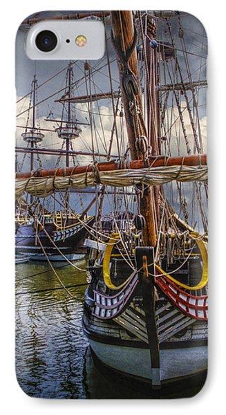 Historic Jamestown Ships IPhone Case