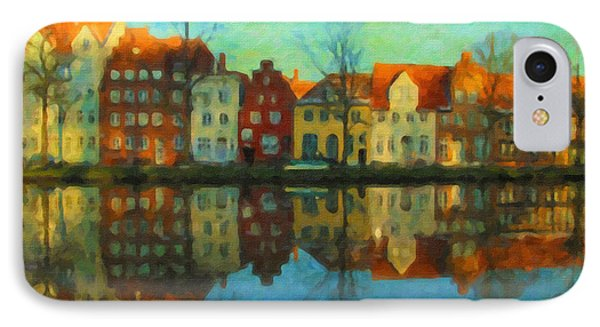Historic Old Town Lubeck IPhone Case by Chris Armytage
