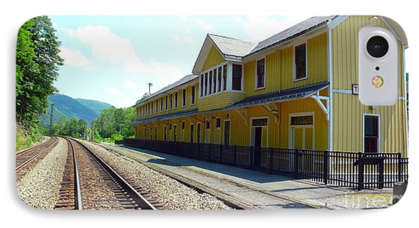 Historic Passenger Train Depot Thurmond West Virginia IPhone Case by Thomas R Fletcher