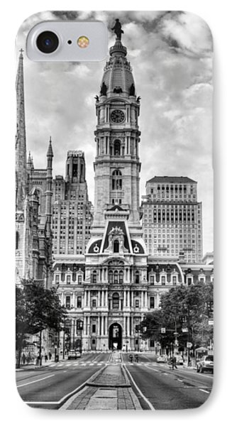 Historic Philly City Hall IPhone Case by JC Findley
