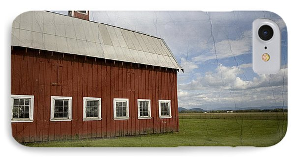 Historic Red Barn IPhone Case by Bonnie Bruno