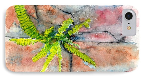 IPhone Case featuring the painting Historic Savannah Wall Weed by Doris Blessington