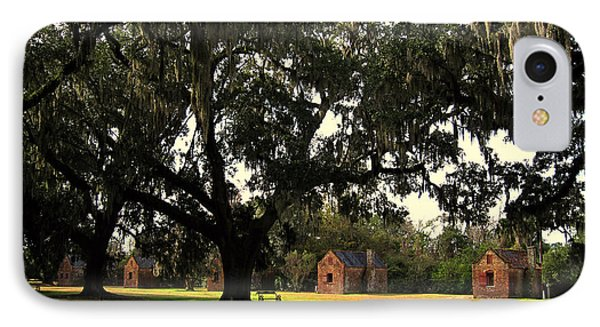 Historic Slave Houses At Boone Hall Plantation In Sc Phone Case by Susanne Van Hulst