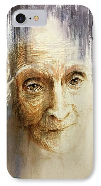 IPhone Case featuring the painting Histories And Memories Of Ancestral Light 3 by J- J- Espinoza