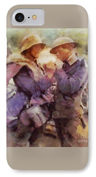 History In Color. Wwi Truce In The Trenches IPhone Case by Sarah Kirk