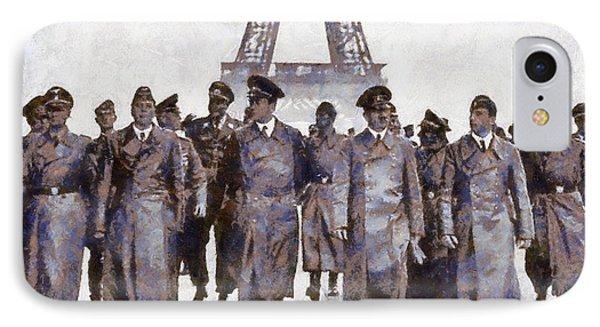 Hitler In Paris Phone Case by Esoterica Art Agency