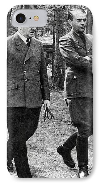 Hitler Strolling With Albert Speer Unknown Date Or Location IPhone Case by David Lee Guss