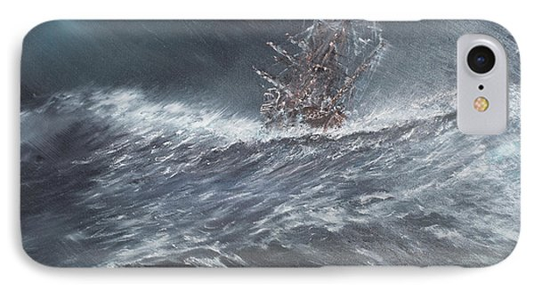 Hms Beagle In A Storm Off Cape Horn IPhone Case