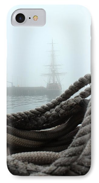 Hms Bounty In The Eastport Fog IPhone Case by Rick  Blood