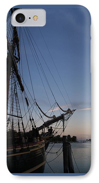 IPhone Case featuring the photograph Hms Bounty Ship - Sunset At The Cove by Margie Avellino