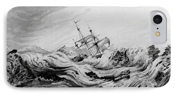 Hms Dorothea Commanded By David Buchan Driven Into Arctic Ice IPhone Case