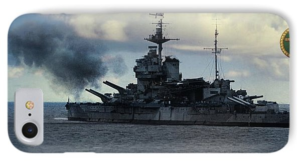 Hms Warspite IPhone Case by John Wills