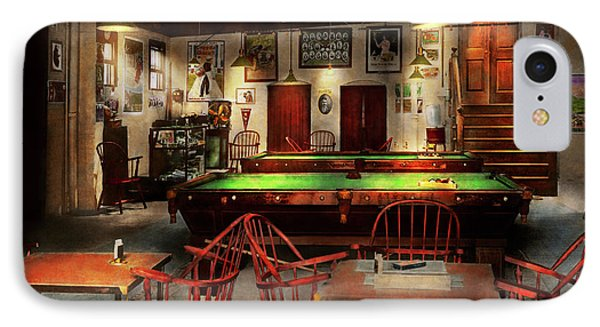 Hobby - Pool - The Billiards Club 1915 IPhone Case by Mike Savad