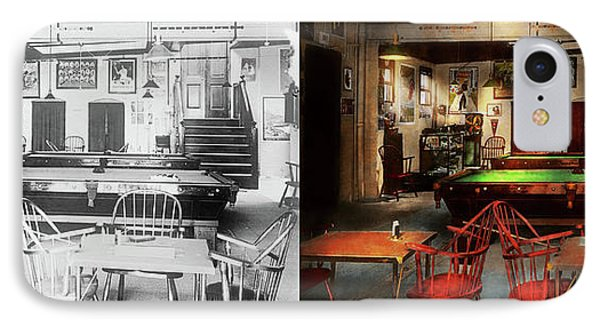 IPhone Case featuring the photograph Hobby - Pool - The Billiards Club 1915 - Side By Side by Mike Savad