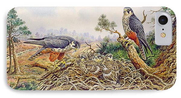Hobbys At Their Nest IPhone Case by Carl Donner