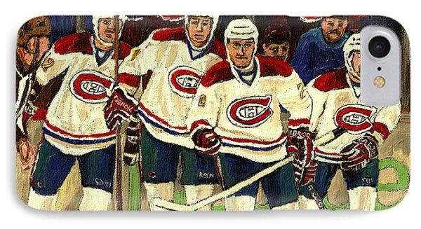 Hockey Art The Habs Fab Four IPhone Case by Carole Spandau