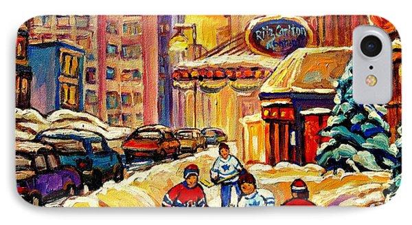 Hockey Fever Hits Montreal Bigtime Phone Case by Carole Spandau
