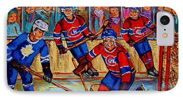 Hockey  Hero Phone Case by Carole Spandau