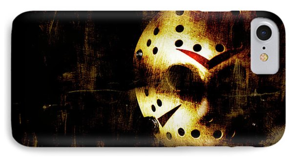 Hockey Mask Horror IPhone Case by Jorgo Photography - Wall Art Gallery