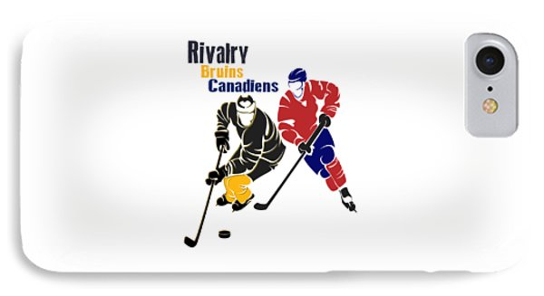 Hockey Rivalry Bruins Canadiens Shirt IPhone Case