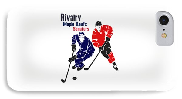 Hockey Rivalry Maple Leafs Senators Shirt IPhone Case