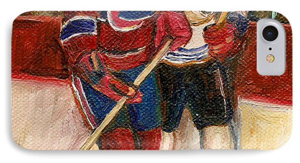 Hockey Stars At The Forum IPhone Case by Carole Spandau