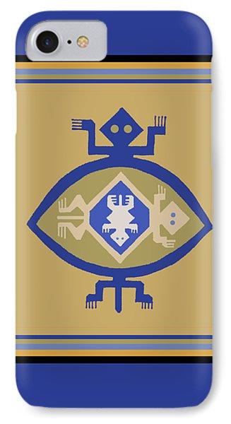 Hohokam Mimbres Turtle Family IPhone Case by Vagabond Folk Art - Virginia Vivier