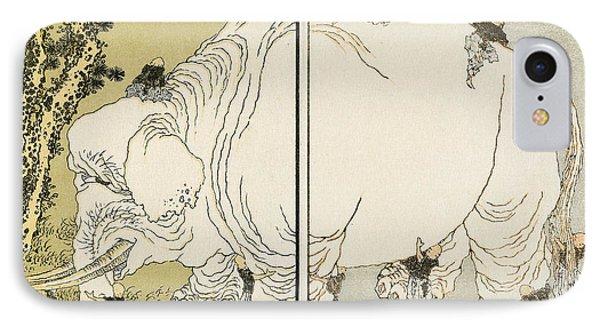 Hokusai: Elephant Phone Case by Granger