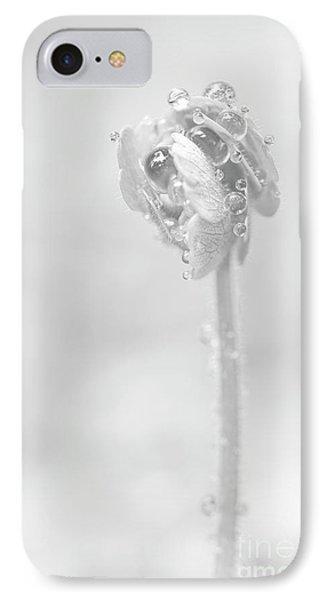 Holding Rain Drops IPhone Case by Masako Metz