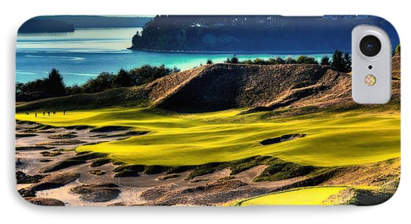 Hole #14 At Chambers Bay IPhone Case by David Patterson