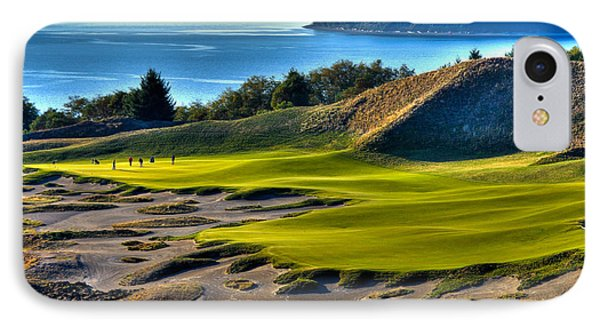 Hole #14 - Cape Fear - At Chambers Bay IPhone Case by David Patterson