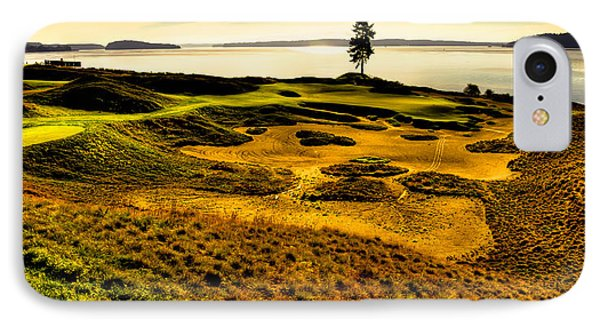Hole #15 - The Lone Fir At Chambers Bay IPhone Case by David Patterson