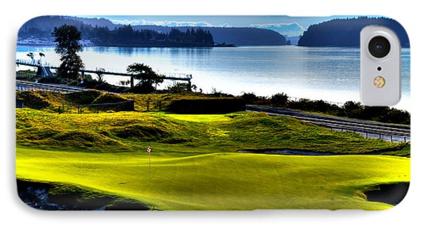 Hole #17 At Chambers Bay IPhone Case by David Patterson