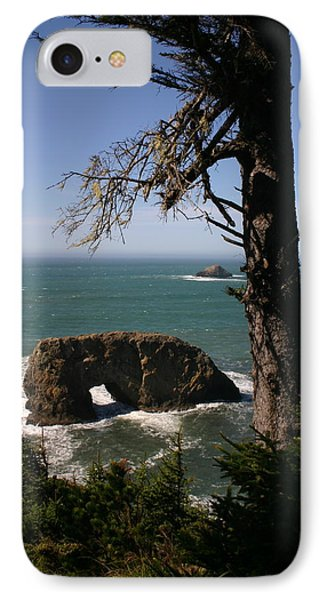 IPhone Case featuring the photograph Hole In One At Arch Rock by Marie Neder