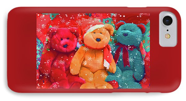 IPhone Case featuring the photograph Holiday Bears by Diane Alexander