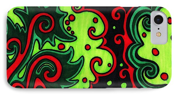 Holiday Colors Abstract Phone Case by Mandy Shupp
