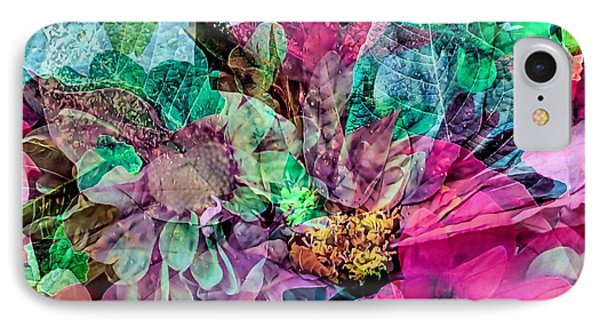 Holiday Floral Composite IPhone Case by Janice Drew