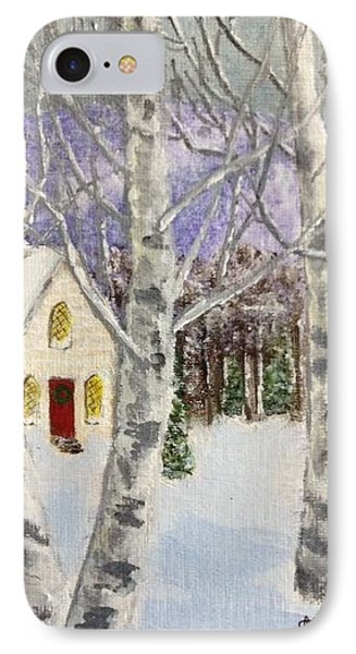 IPhone Case featuring the painting Holiday In The Country by Cynthia Morgan