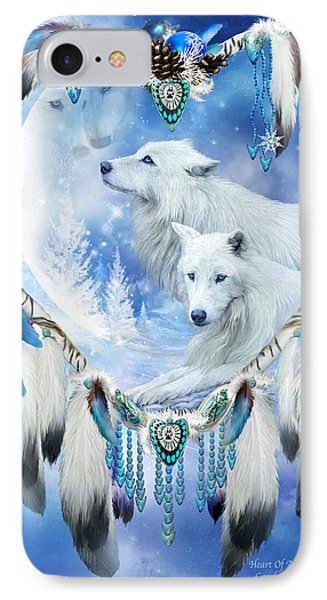 Holiday Wolves IPhone Case by Carol Cavalaris