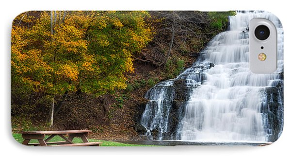 IPhone Case featuring the photograph Holley Canal Falls by Mark Papke