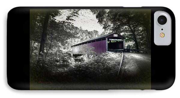 Hollingshead Bridge IPhone Case by Marvin Spates