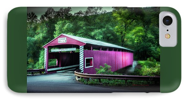 Hollingshead Coverd Bridge IPhone Case by Marvin Spates
