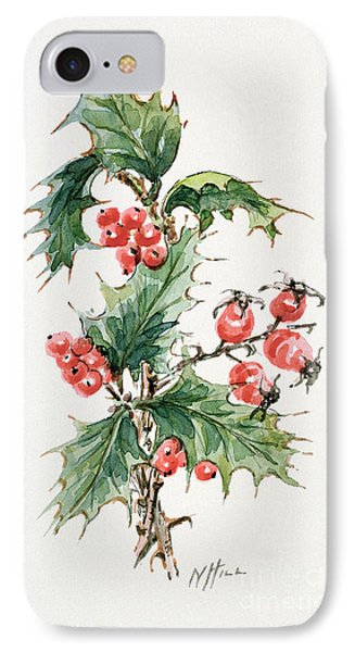 Holly And Rosehips IPhone Case by Nell Hill