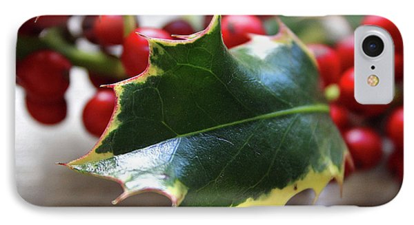 Holly Berries- Photograph By Linda Woods IPhone Case by Linda Woods