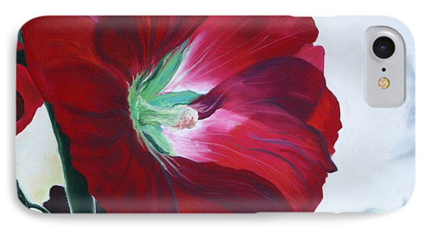 Hollyhock IPhone Case by Jane Autry