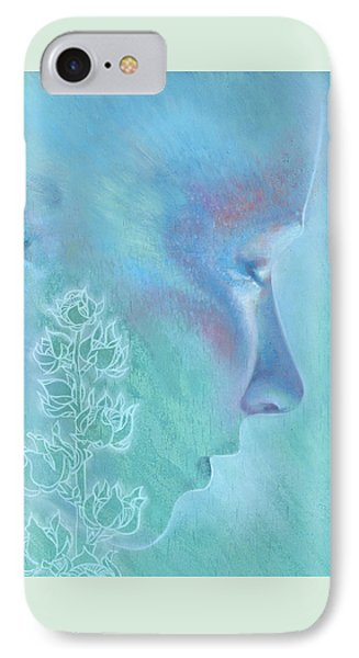 IPhone Case featuring the painting Hollyhock by Ragen Mendenhall