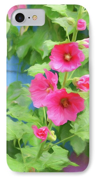 IPhone Case featuring the photograph Hollyhocks - 1 by Nikolyn McDonald