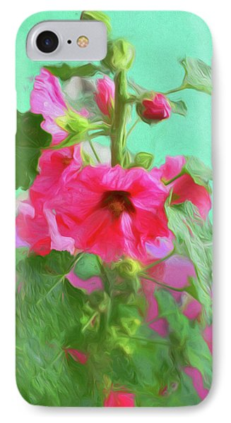 IPhone Case featuring the photograph Hollyhocks - 2  by Nikolyn McDonald
