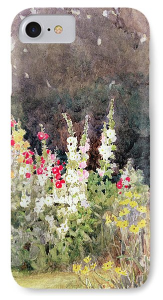 Hollyhocks IPhone Case